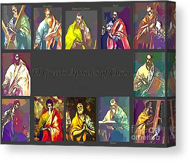 St John The Evangelist Digital Art Canvas Prints