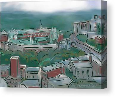 Commonwealth Ave Drawings Canvas Prints