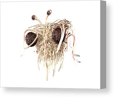 Flying Spaghetti Monster Canvas Prints