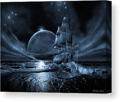Waterscape Digital Art Canvas Prints