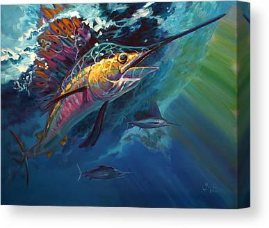 Sailfish Canvas Prints