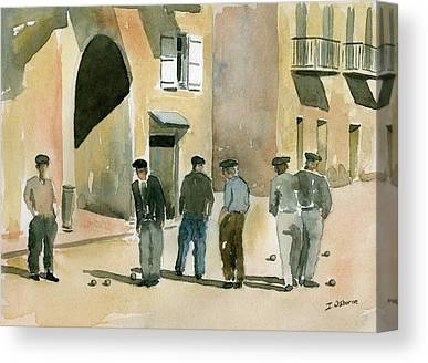 Petanque Paintings Canvas Prints