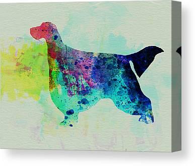 Gordon Setter Puppy Canvas Prints