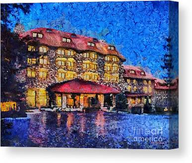Grove Park Inn Paintings Canvas Prints