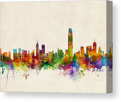 Hong Kong Digital Art Canvas Prints