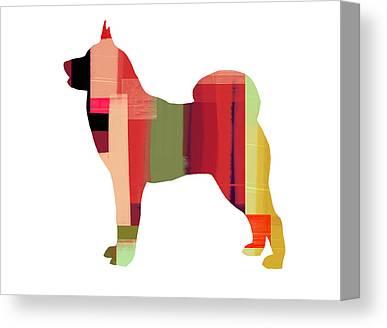 Husky Puppy Canvas Prints