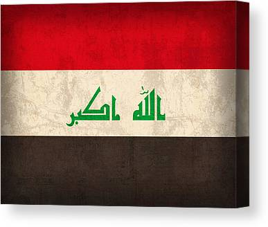 Iraq Mixed Media Canvas Prints