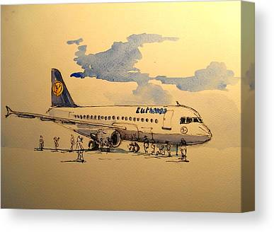 Lufthansa Canvas Prints