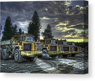 Heavy Duty Truck Canvas Prints