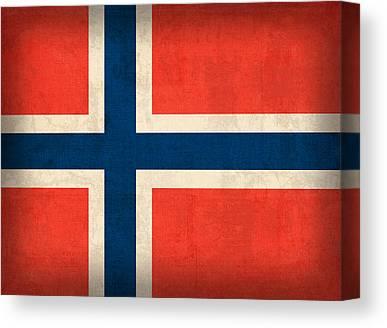 Norway Mixed Media Canvas Prints