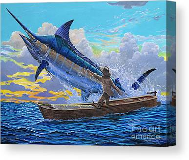 White Marlin Canvas Prints