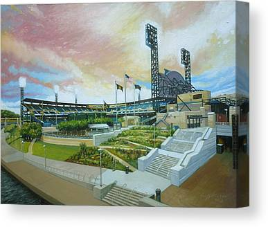 Pennsylvania Baseball Parks Paintings Canvas Prints