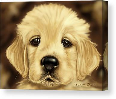 Dog Close-up Paintings Canvas Prints
