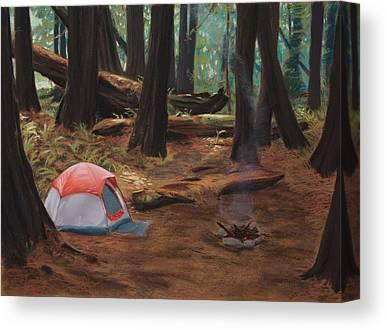 Wood Fire Canvas Prints