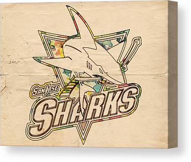 San Jose Sharks Canvas Prints