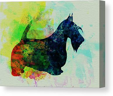 Scottish Terrier Puppy Canvas Prints