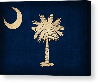 South Carolina Mixed Media Canvas Prints
