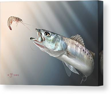Speckled Trout Canvas Prints