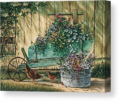 Wheel Barrow Canvas Prints