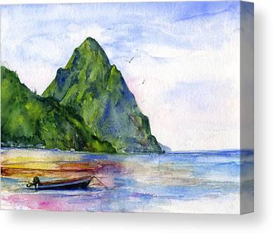 St. Lucia Canvas Prints