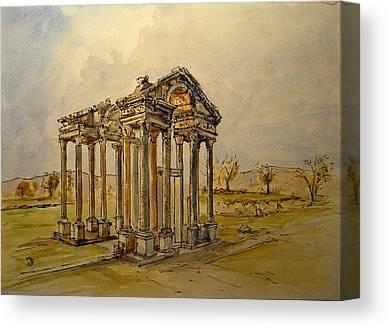 Ancient Greek Ruins Canvas Prints