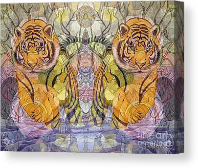 Buddha And Tiger Canvas Prints