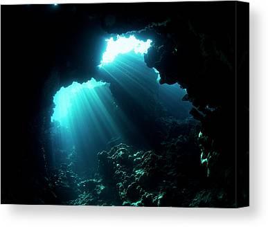 Underwater Caves Canvas Prints