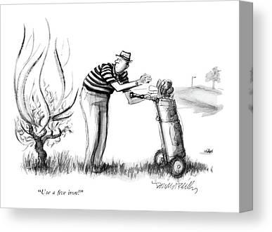 Burning Bush Drawings Canvas Prints