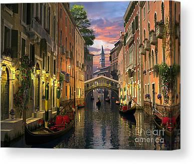 Italian Landscape Digital Art Canvas Prints