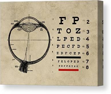 Eye Chart Canvas Prints