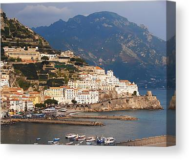 Villa By The Sea Canvas Prints