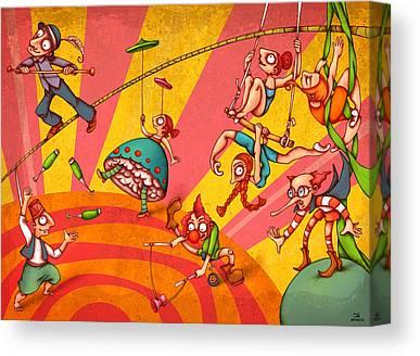 Juggler Canvas Prints