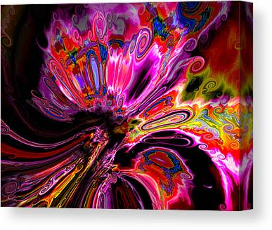 Colorful Abstract Algorithmic Contemporary Canvas Prints