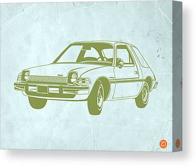 Funny Car Drawings Canvas Prints