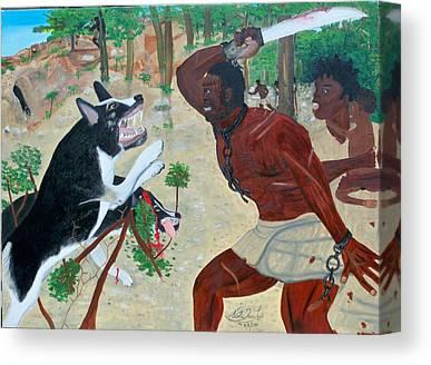 Black Maroon In Haiti Canvas Prints