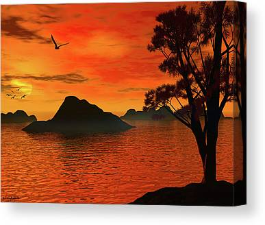 Mysterious Sunset Canvas Prints