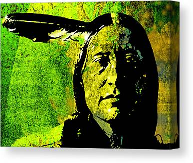 American Indian Canvas Prints