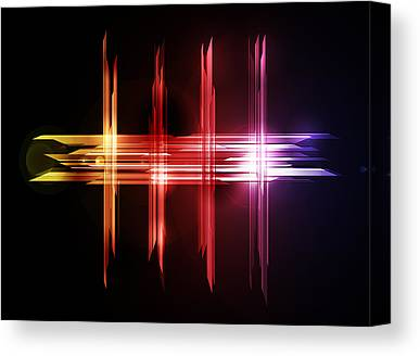 Beam Digital Art Canvas Prints