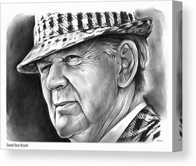Bear Bryant Canvas Prints