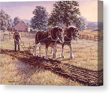Plow Horse Canvas Prints
