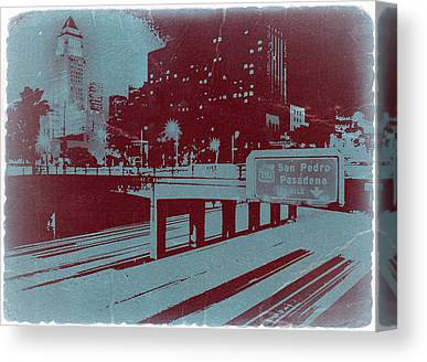 Down Town Los Angeles Canvas Prints