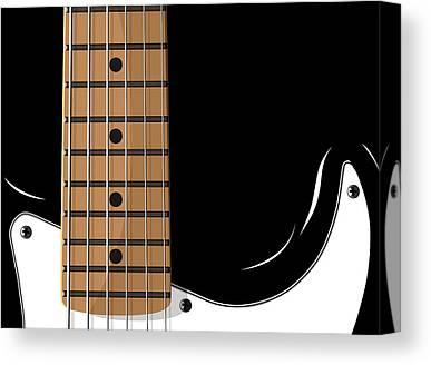 Guitar Player Digital Art Canvas Prints