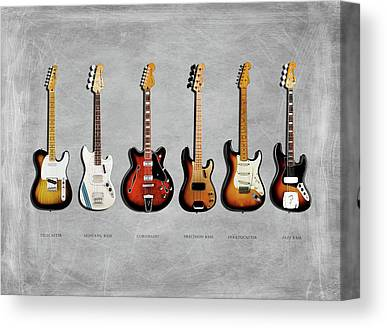 Fender Guitars Canvas Prints