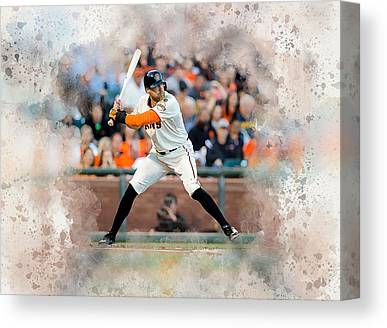 Hunter Pence Digital Art Canvas Prints