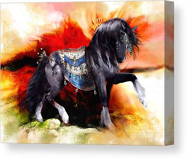 Dun Horse Canvas Prints