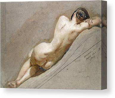 Nude Figure Canvas Prints