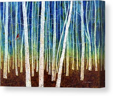 Tree Canopy Paintings Canvas Prints