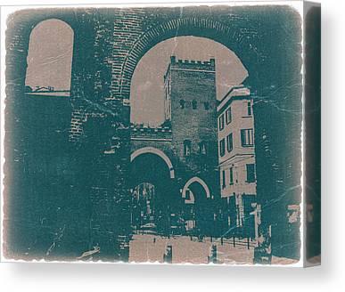 Old Milano Canvas Prints