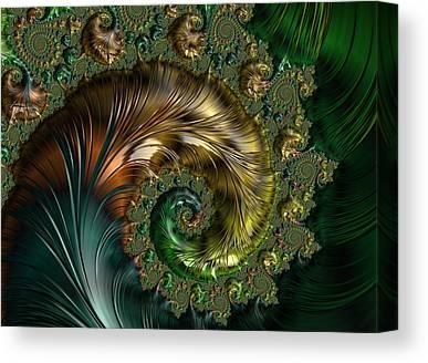 Seashell Fine Art Digital Art Canvas Prints