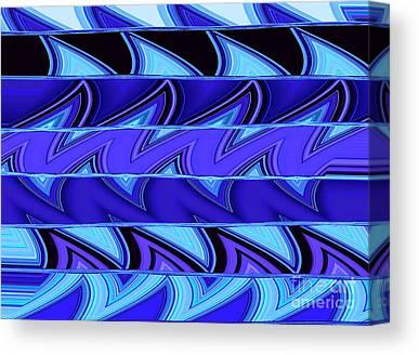 Aqua Condominiums Digital Art Canvas Prints